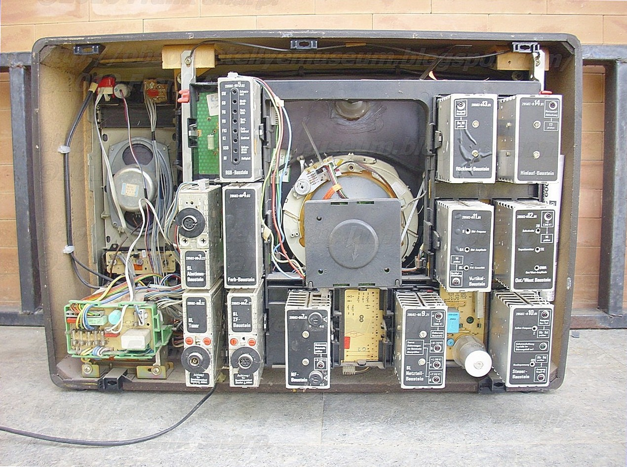 Obsolete Technology Tellye Grundig Eleganz 8245 30 Serie 30t26sl Electric Shock Alarm Circuit1 Basiccircuit Circuit Diagram In A Television Deflection System Employing First Scr For Coupling Winding Across Source Of Energy During Trace Interval Each