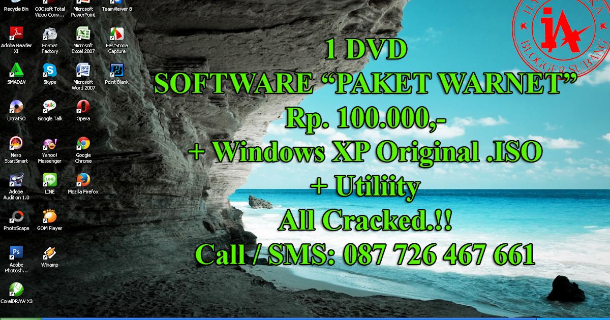 "Software ""PAKET WARNET"" Full Crack + Windows XP Original + Utility | @ ..."