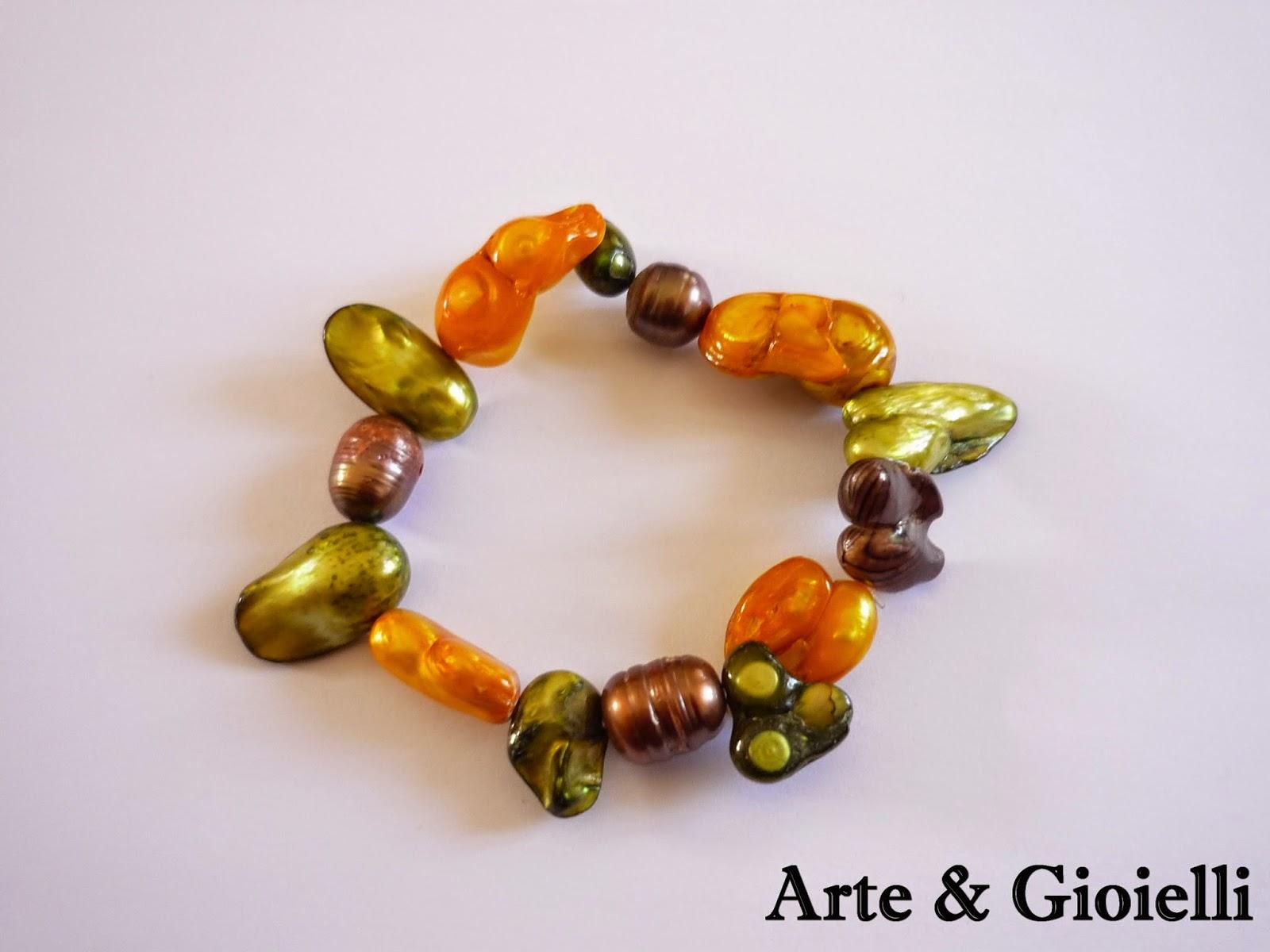 Arte gioielli bracciali in perle di fiume for Siti cinesi gioielli