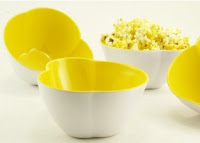 Warm Buttery, Individual, Popcorn Shaped Bowls
