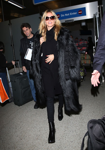 Actress, Model, @ Heidi Klum Style - LAX in Los Angeles, CA
