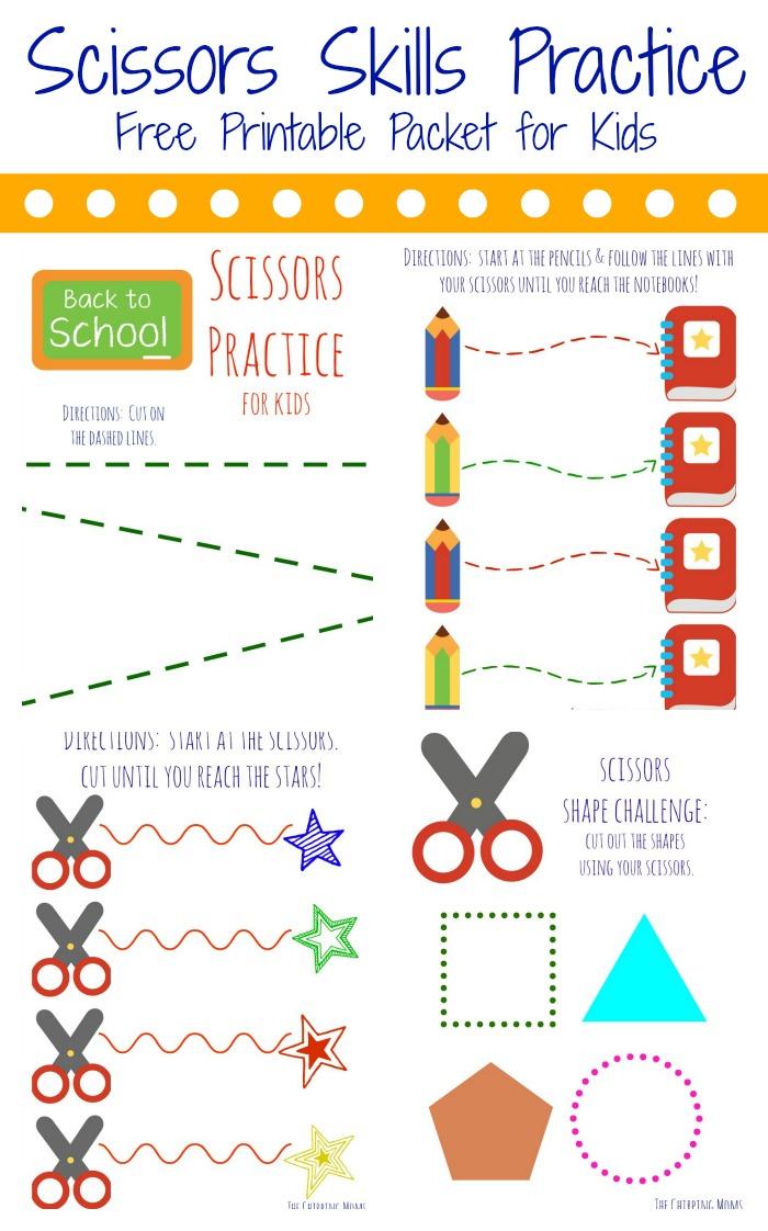Simple Scissors Practice For Preschoolers The Chirping Moms