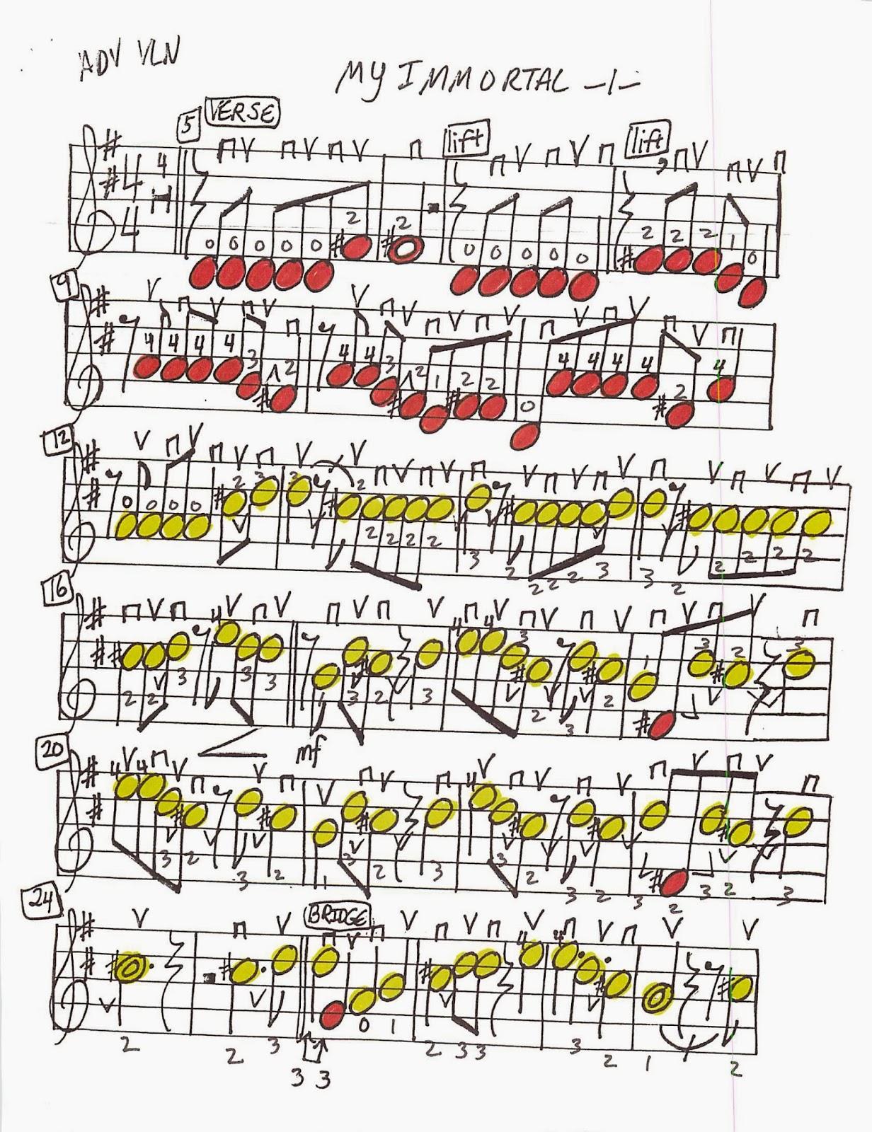 my immortal sheet music pdf