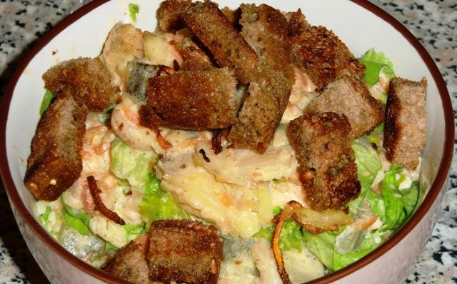 Тёплый салат а ля Рюс