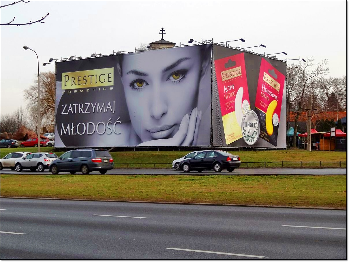 Gigantyczna reklama przy Dolince Służewieckiej