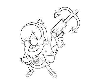 #11 Mabel Pines Coloring Page