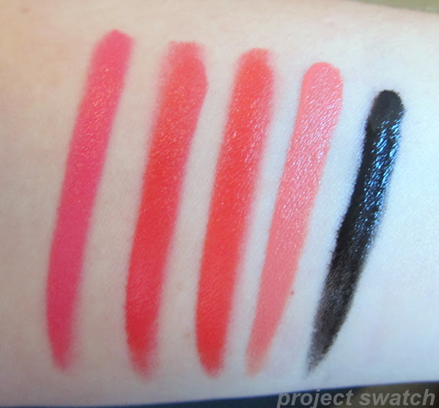 OCC Queen, Harlot, Radiate, Grandma, Tarred - swatches