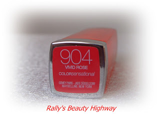 904 Vivid Rose - Maybelline ColorSensational Vivids Collection lipstick