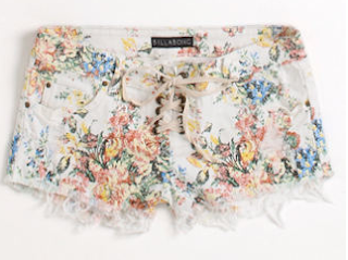 Billabong Lite Hearted Shorts Floral