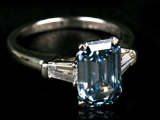 Fancy Deep Blue Diamond Ring