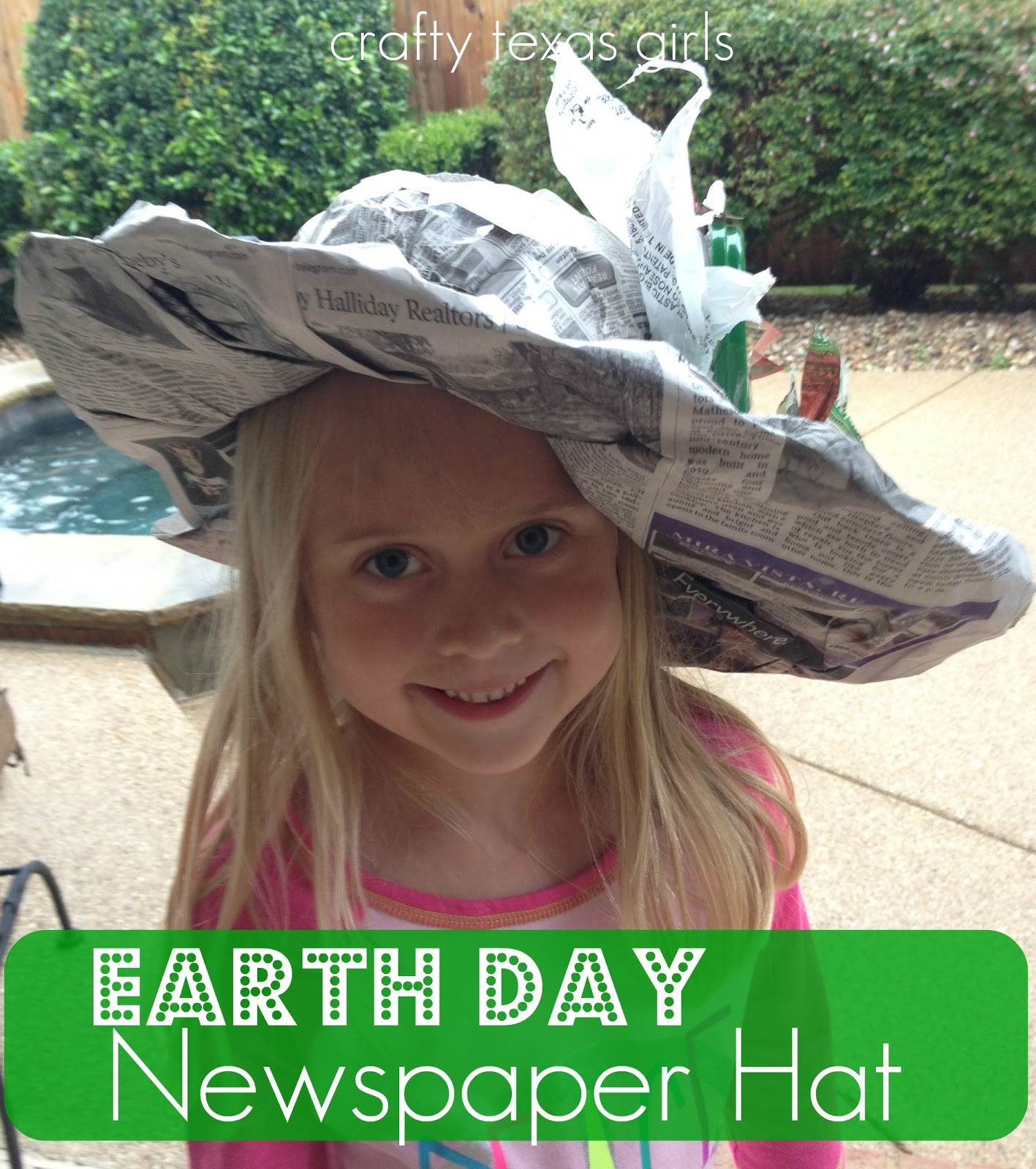 Crafty texas girls crafty how to earth day newspaper hat - How to reuse magazines seven inspired ideas ...