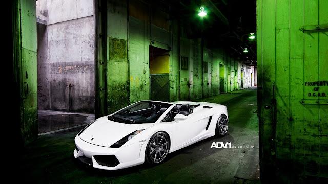 ADV1 White Lamborghini Gallardo