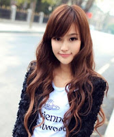 cute korean girls long hairstyle for oval face 2012 Trend Potongan Rambut Cewek Korea 2013