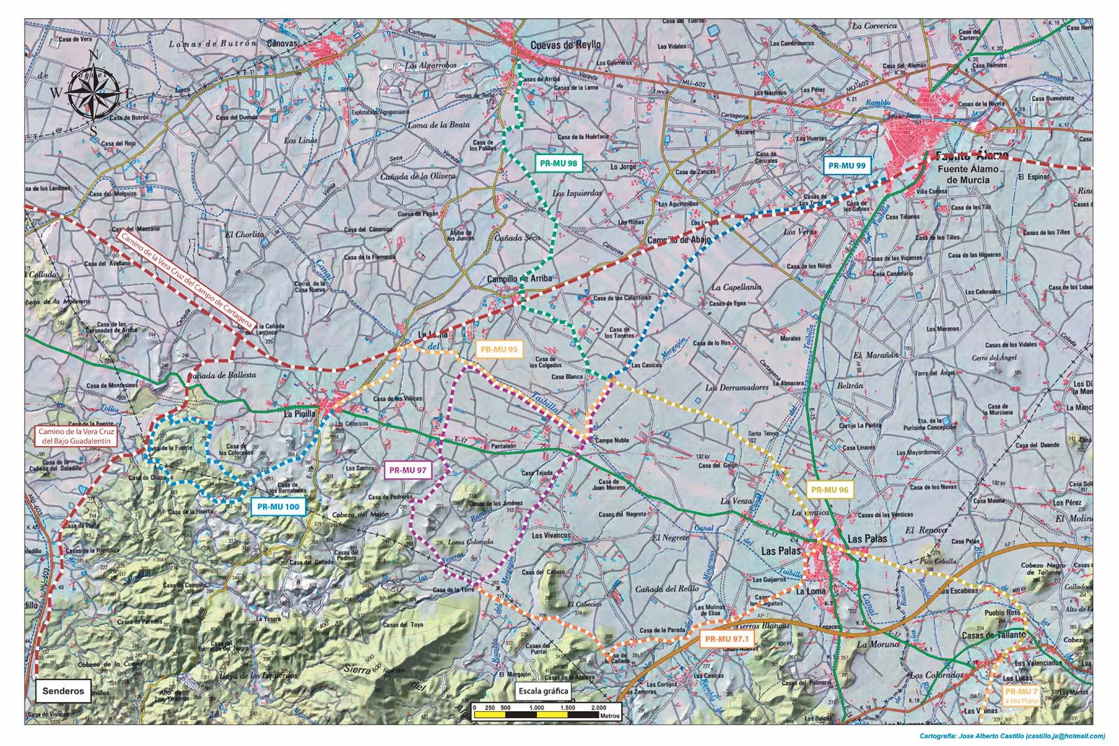 Plano de las 6 rutas