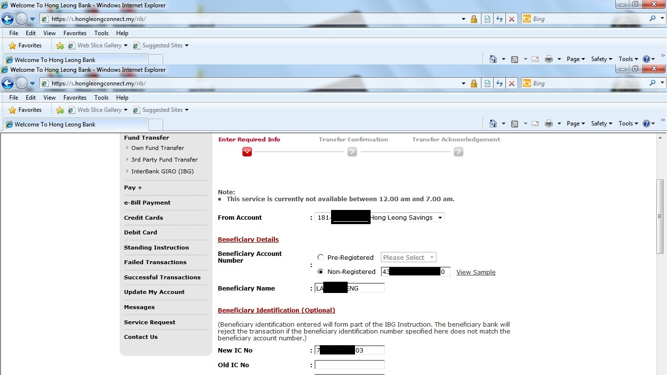Citibank Credit Card Payment Online >> How 2 Do Do How To Transfer Payment From Hong Leong Online Banking