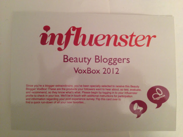 What's in my Influenster Beauty Bloggers VoxBox 2012