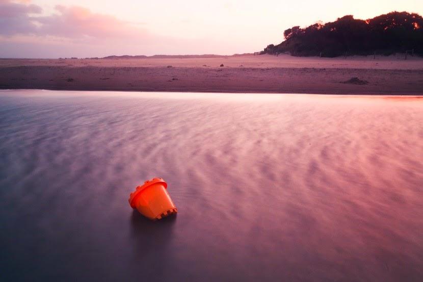 fioletowa plaża