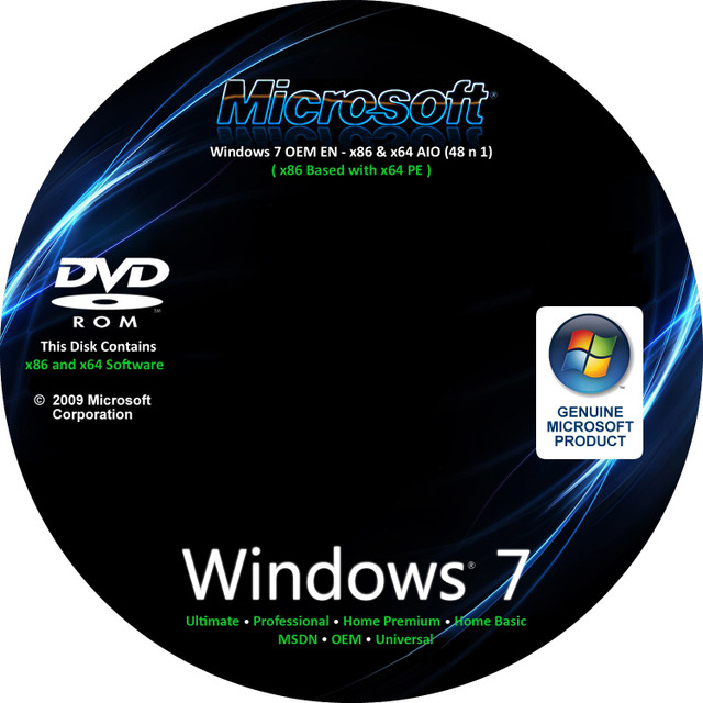 Windows 7 OEM EN 48 in 1