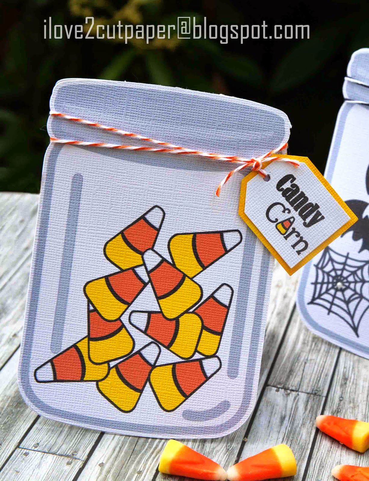 Candy Corn Mason Jar printable