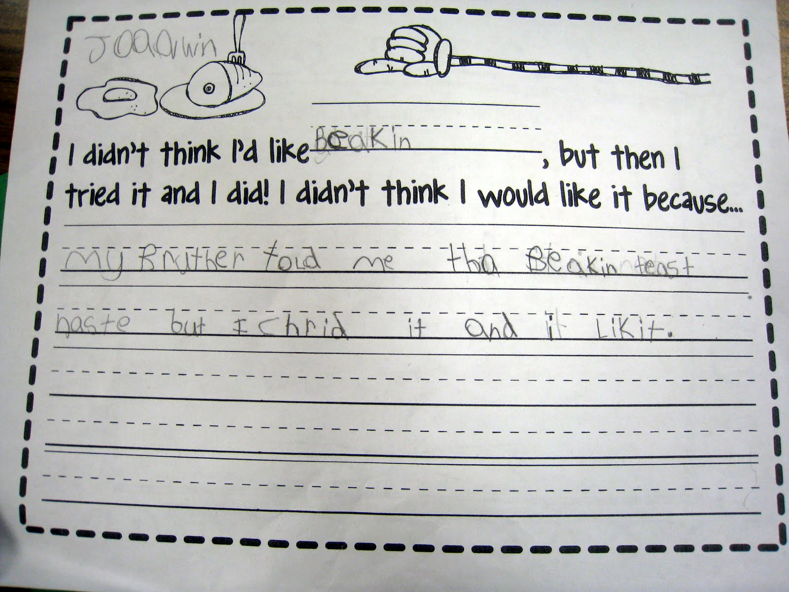 worksheet Making Connections Worksheet first grade brain sprinkles making connections thank you and a bacon