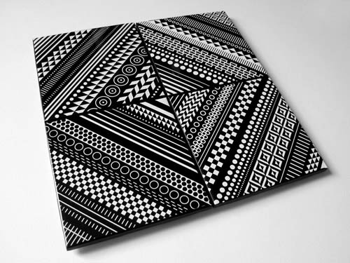 Home Decor Ceramic Tile Coaster Set of 4