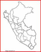 Mapa y Bandera y escudo de Perú para dibujar pintar colorear imprimir . (peru )