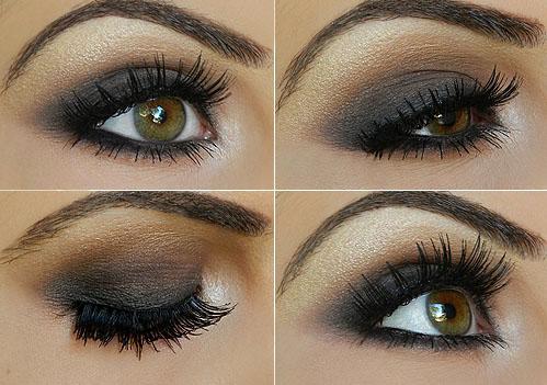 step by step smokey taupe eyeshadow tutorial
