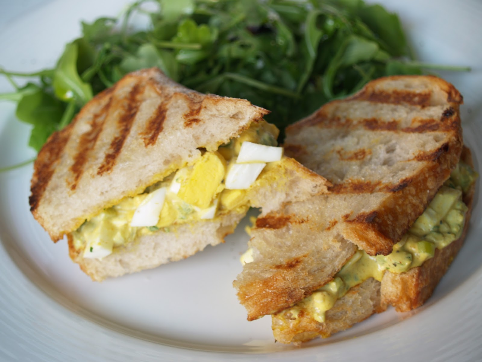 Persimmon and Peach: Curried Egg Salad