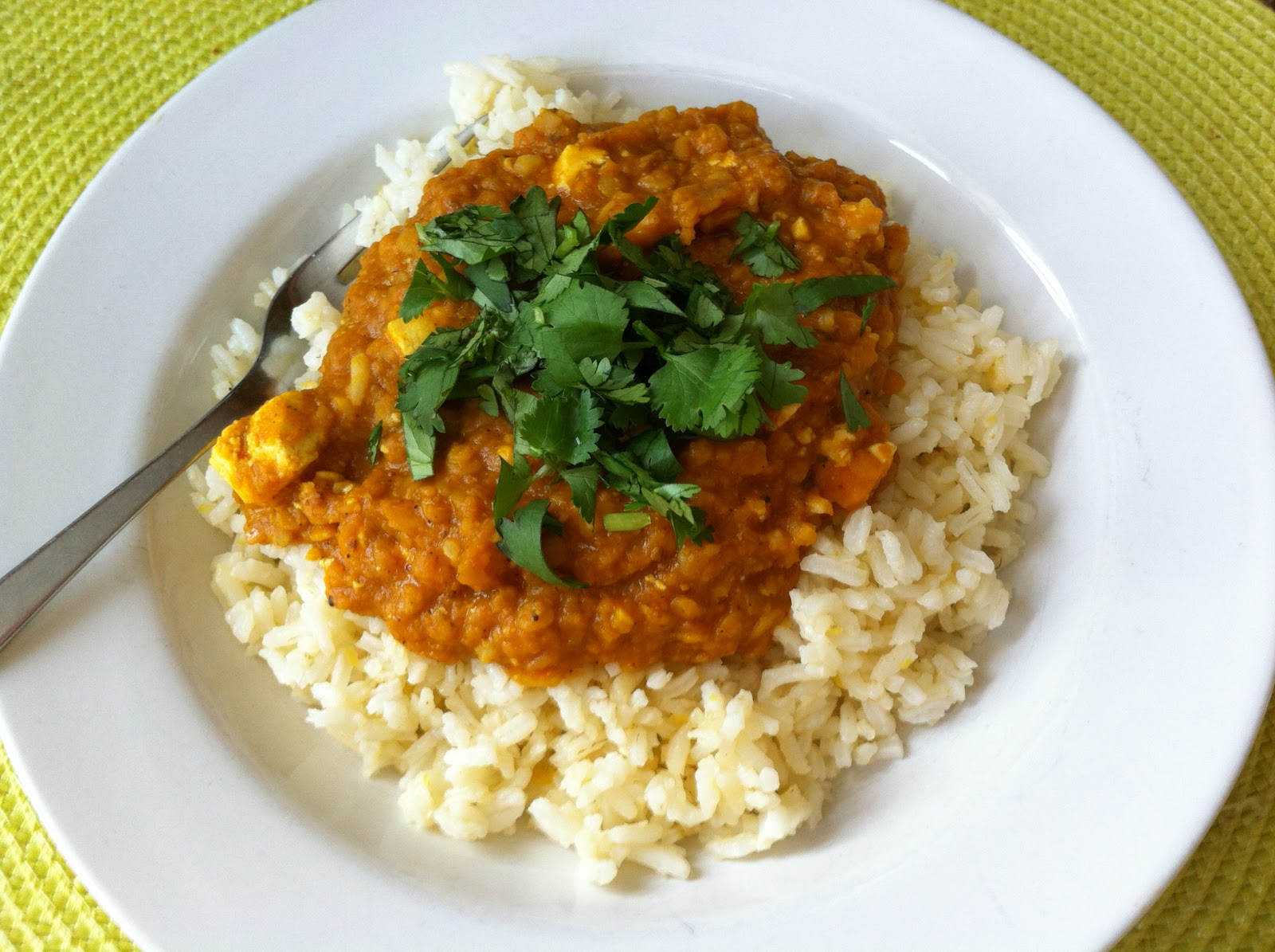 Kirsten's Kitchen: of vegan creations: Red lentil curry