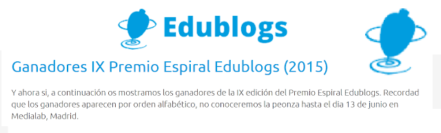http://espiraledublogs.org/en/community/Edublogs/resource/ganadores-ix-premio-espiral-edublogs-2015/6d16a5b1-b5f7-48f5-9842-ee23ba35475d