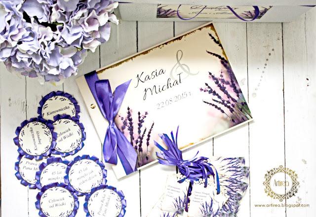 oryginalne rustykalne dodatki ślubne lawendowe fioletowe Artirea