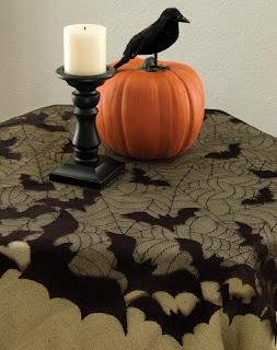 Decoração de Halloween com tecido