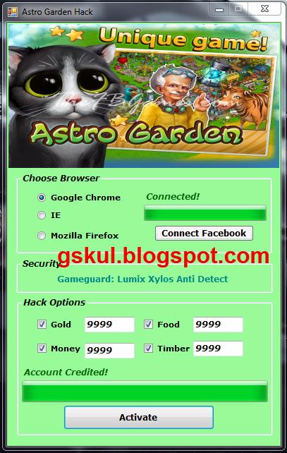 Astro garden hack and cheat tool gameskul for Gardening tools 94 cheats