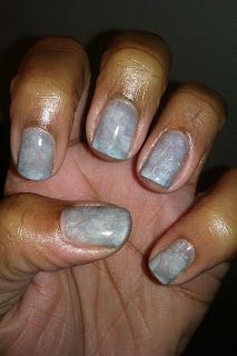 Gloomy, grey, cloudy. sponge, sponging, nail art, mani