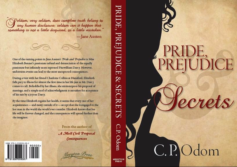 Book Cover - Pride, Prejudice & Secrets by C P Odom