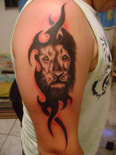 Lion Tribal Tattoos Designs