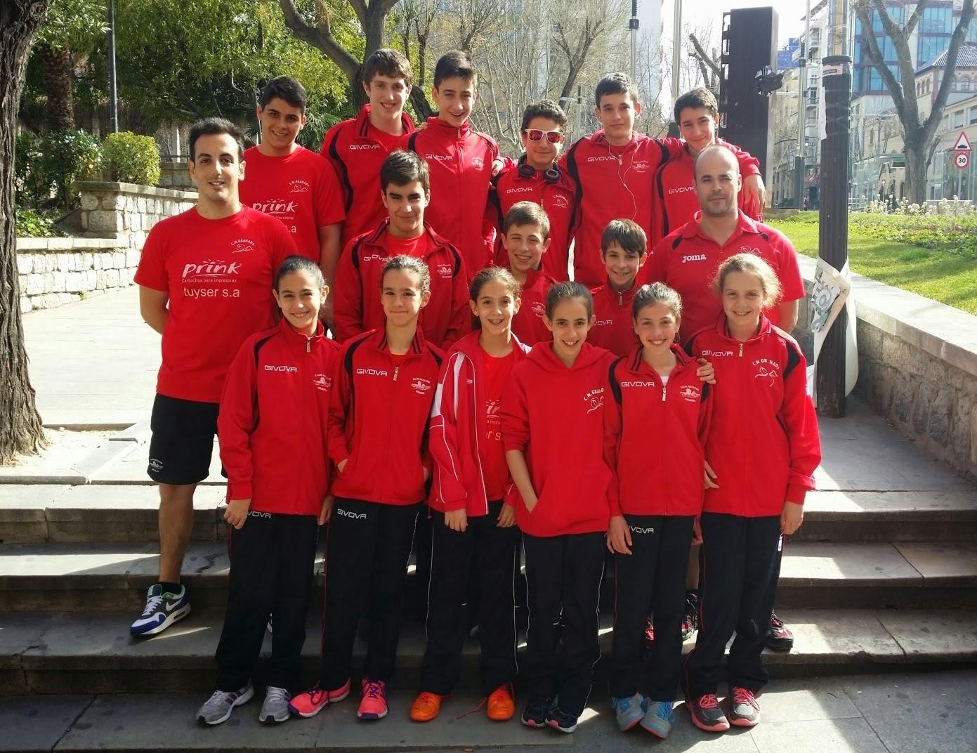 EL CN Granada, subcampeón de Andalucía Alevín Masculino