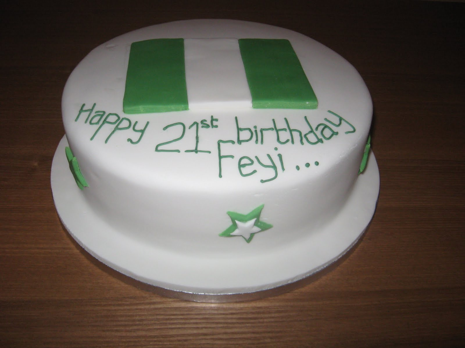 The Great Cake Experience Nigerian Flag Cake