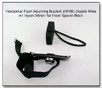Horizontal Flash Mounting Bracket (HFMB) Double Wide w/ Nylon Tether for Foam Spacer Block (Assembled)