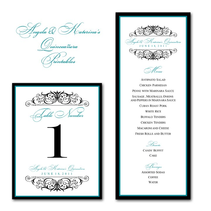 sweet sixteen program template - paper perfection angela katerina 39 s quincea era printables