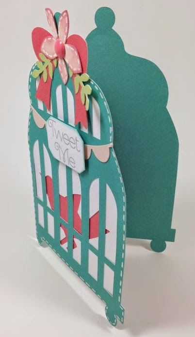 Close To My Heart Artfully Sent Bird Cage card sideview