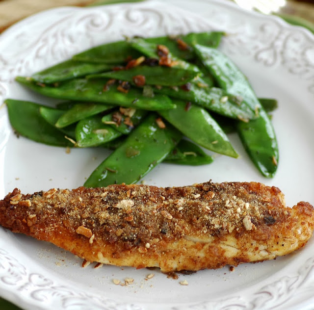 pretzel-crusted tilapia (and a thank you)