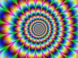 Rainbow Colored Illusion In Circle