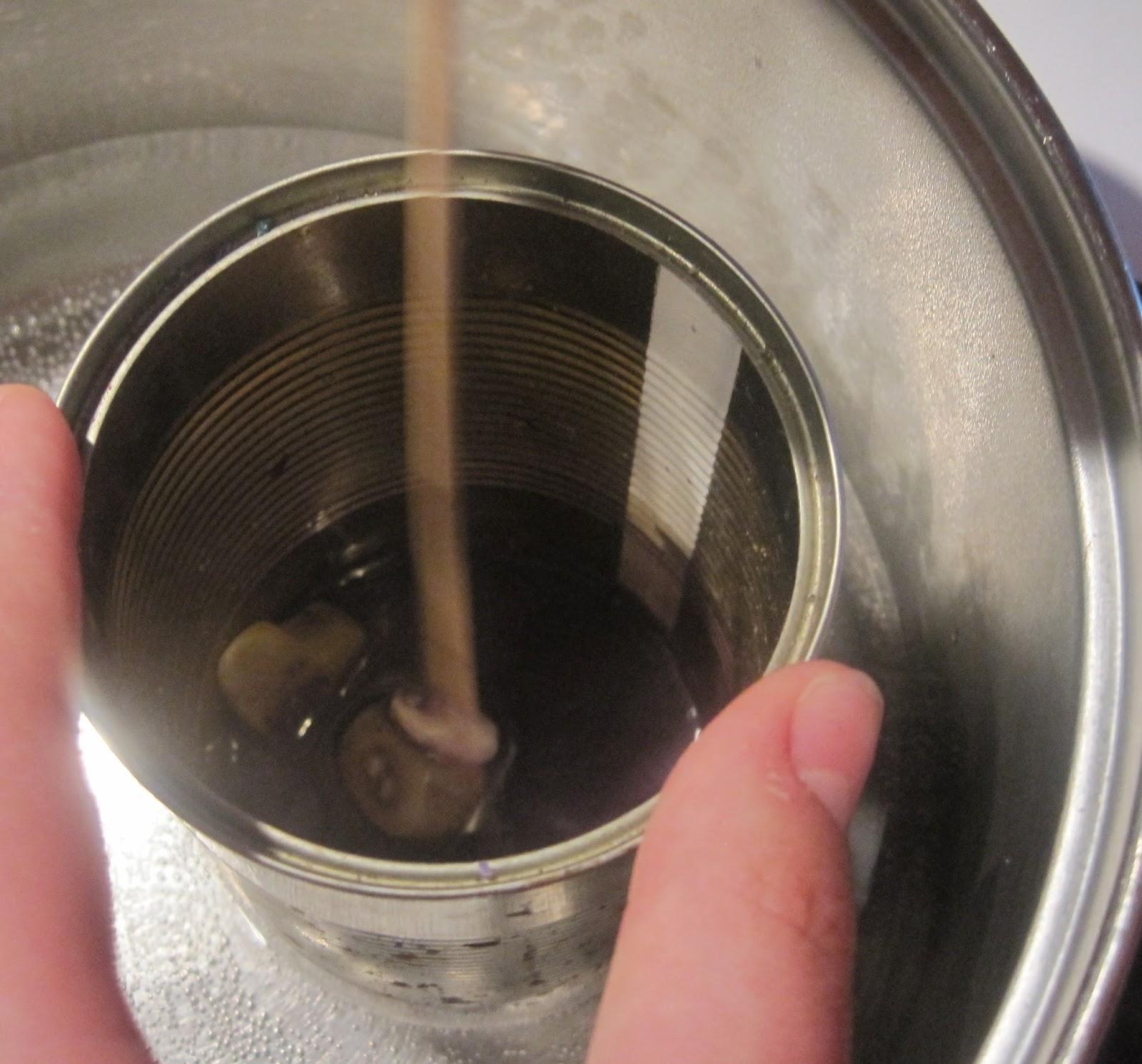 topienie wosku