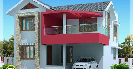 2030 Simple Modern House In Trivandrum Kerala