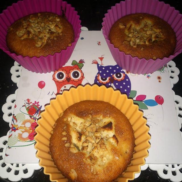 Elmalı Cevizli Kek - Kolay Kek Tarifleri - Cupcake Tarifleri