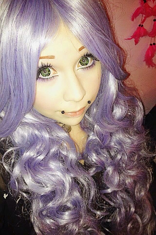 Purple Lolita Long Wig