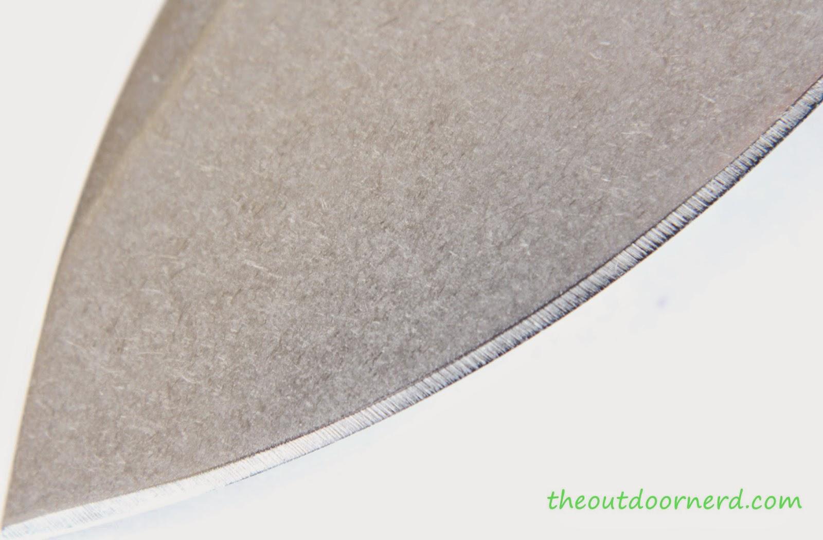 Kershaw Swerve EDC Pocket Knife:  View Of Blade - Tip