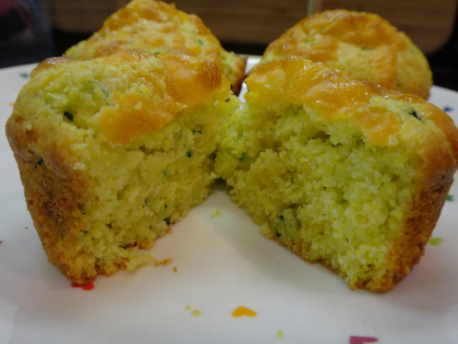 Falling in love with baking: Zucchini cornbread muffins