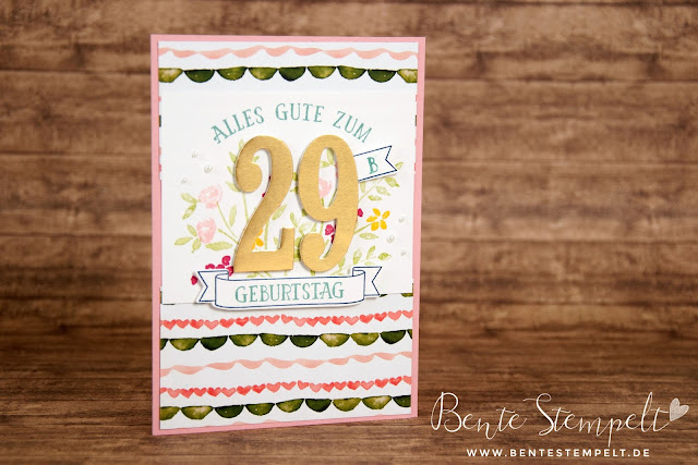 Stampin Up! DSP Designer Series Paper Birthday Bouquet Designerpapier Geburtstagsstrauß Framelits Large Numbers Große Zahlen Stempelset So viele Jahre Number of years